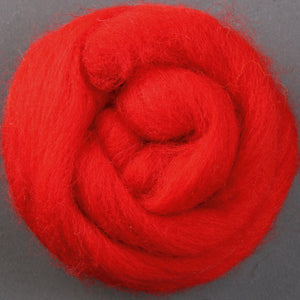 Merino Top (22 Micron) Chilli Pepper