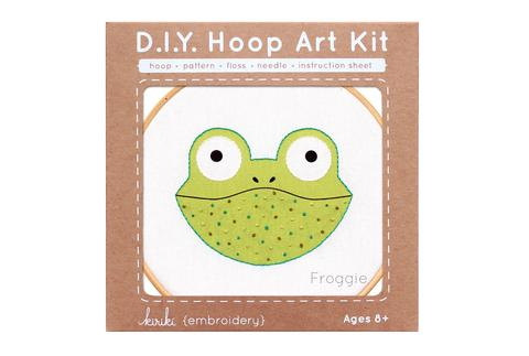 Kiriki {embroidery} DIY Hoop Art Kit FROGGIE