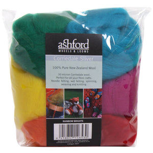 Corriedale 100g Packs Rainbow Bright
