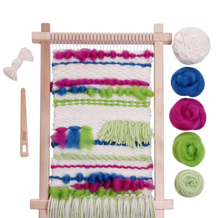 Weaving Starter Kit Brights (includes WFS, weaving needle, yarn and fibre)