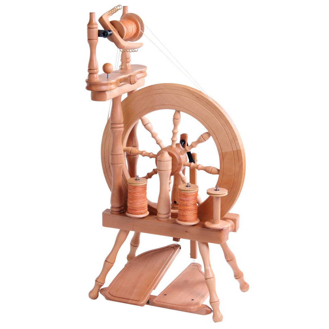 Traveller Double Treadle Double Drive Wheel Natural