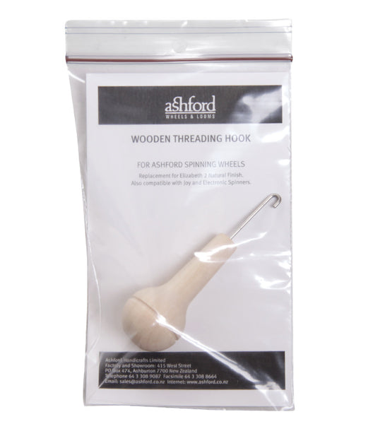 Wooden Threading Hook (natural and lacquered)