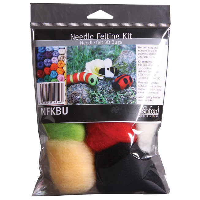 Needle Felting Kit - Bugs