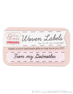 Woven Labels - From My Godmother - Sublime Stitching