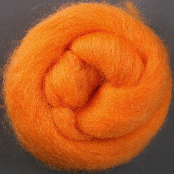 Corriedale Top Tangerine