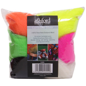 Corriedale 100g Packs Fluorescent