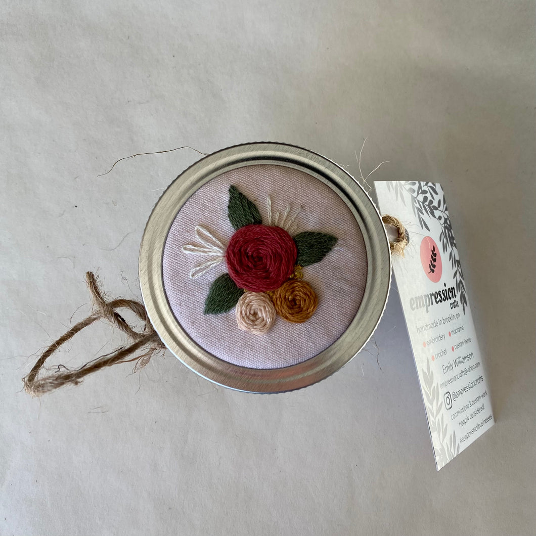 Naturally Dyed Floral Stash Jar