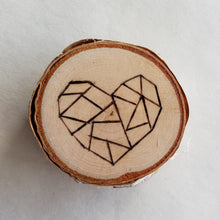 Load image into Gallery viewer, Wood Burned Birch Magnet