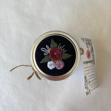 Load image into Gallery viewer, Black Floral Stash Jars