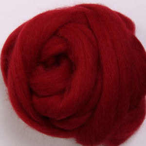 Corriedale Top Cherry Red