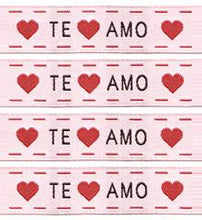 Load image into Gallery viewer, Woven Labels - Te Amo - Sublime Stitching