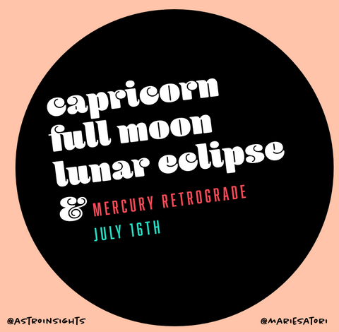 Capricorn Full Moon and Lunar Eclipse