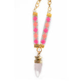 St Tropez Crystal Quartz Necklace