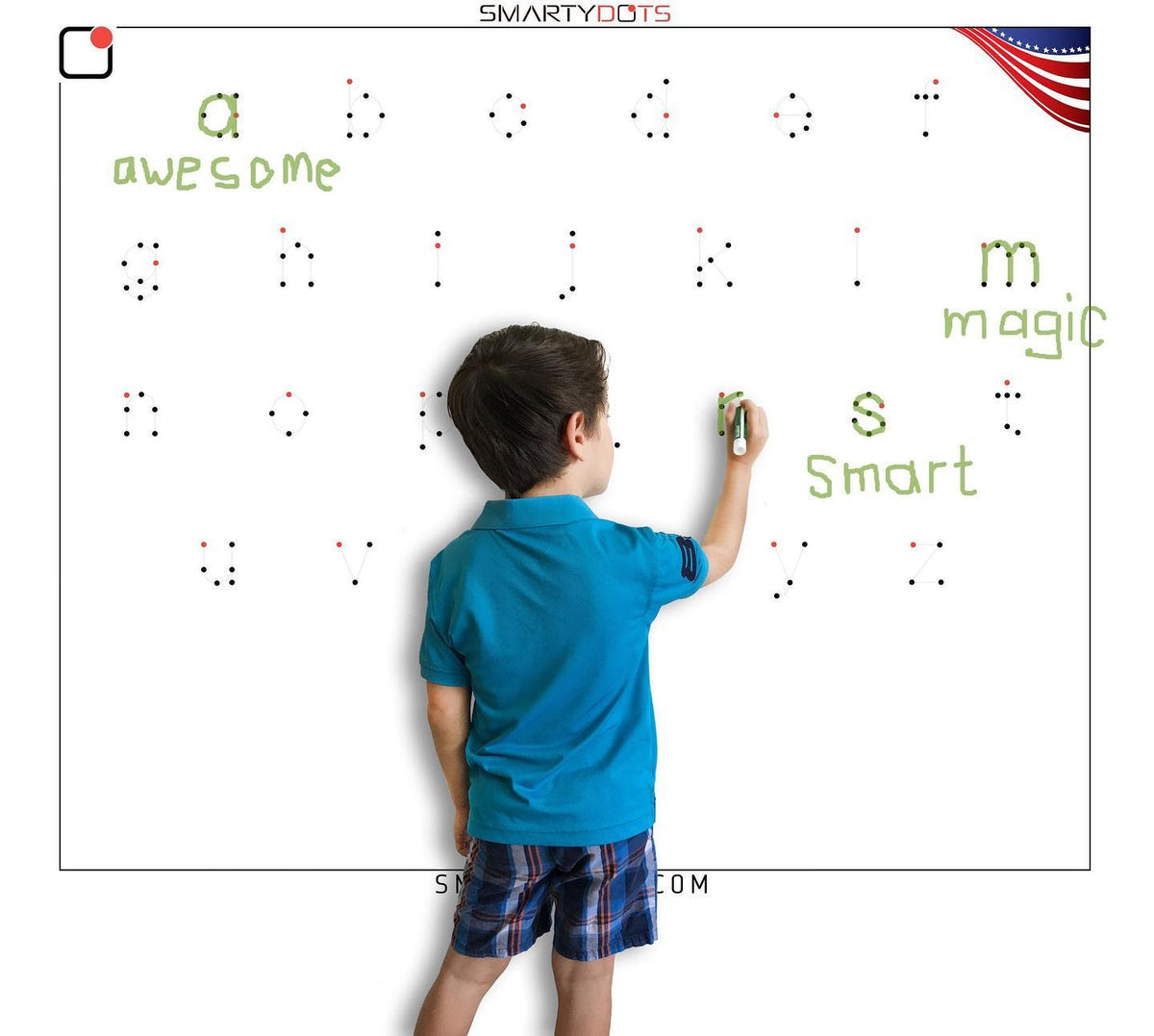 From Shapes Through Upper Case Letters: Smarty Dots for Smart Kids