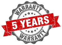 5 year warrenty