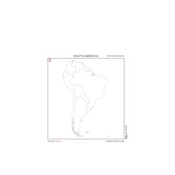 South America | Tectonic Plate (28x30)