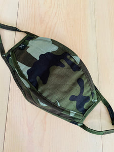 Green High Quality Camo Face Mask