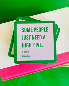 High Five Drink Coaster
