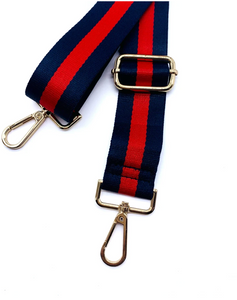 Designer Inspired Navy/Red Purse Strap