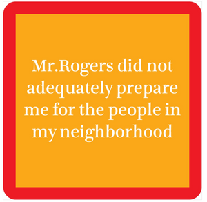 Mr. Rogers Drink Coaster