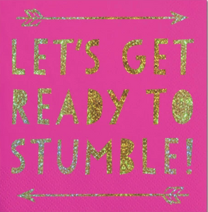 """Ready to Stumble"" Beverage Napkins"
