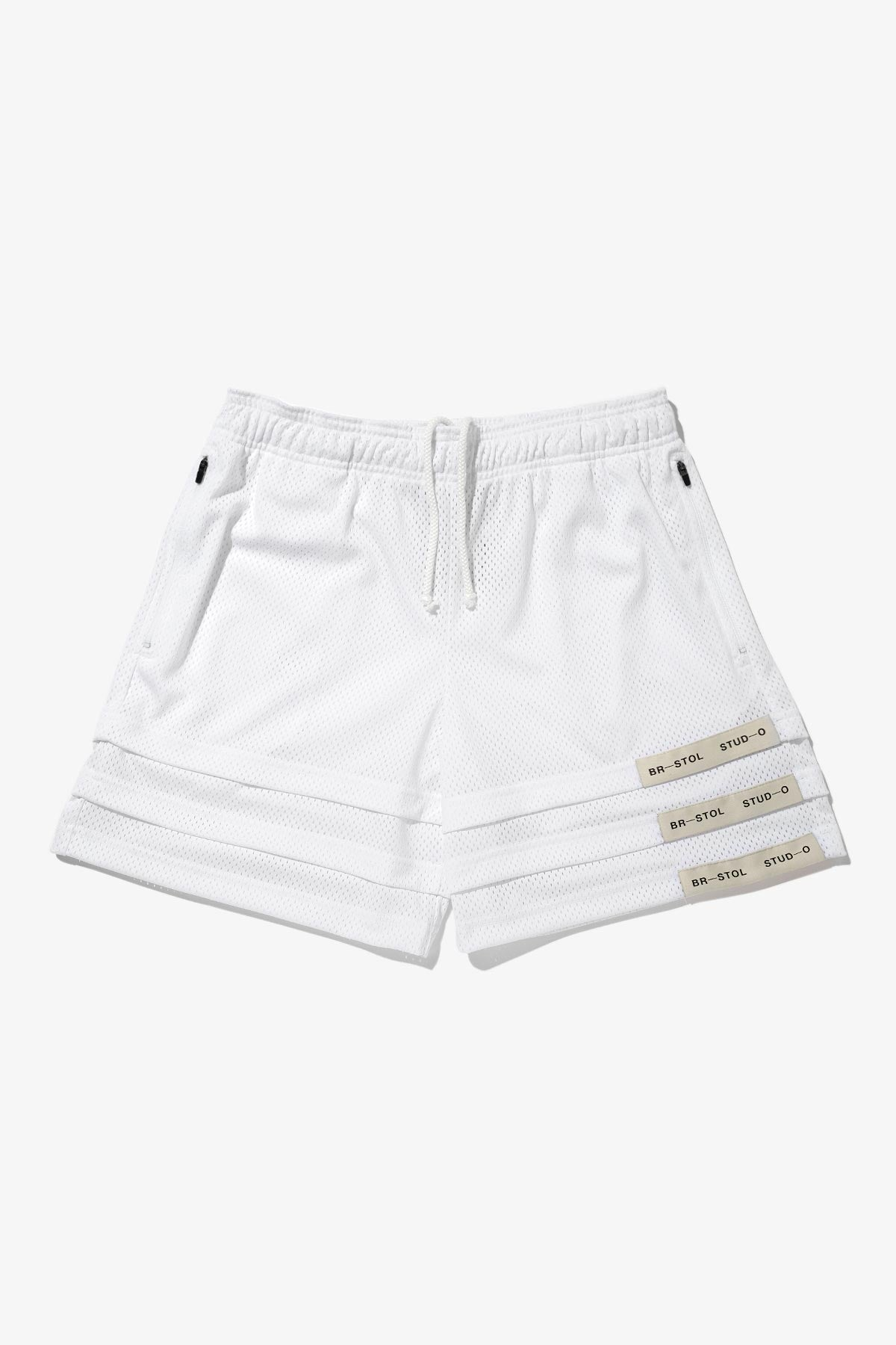 Triple Hem Shorts – White