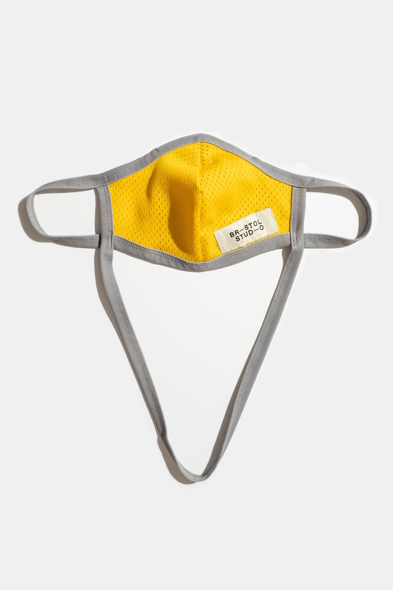 Home Team Mask – Grey / Bristol Yellow