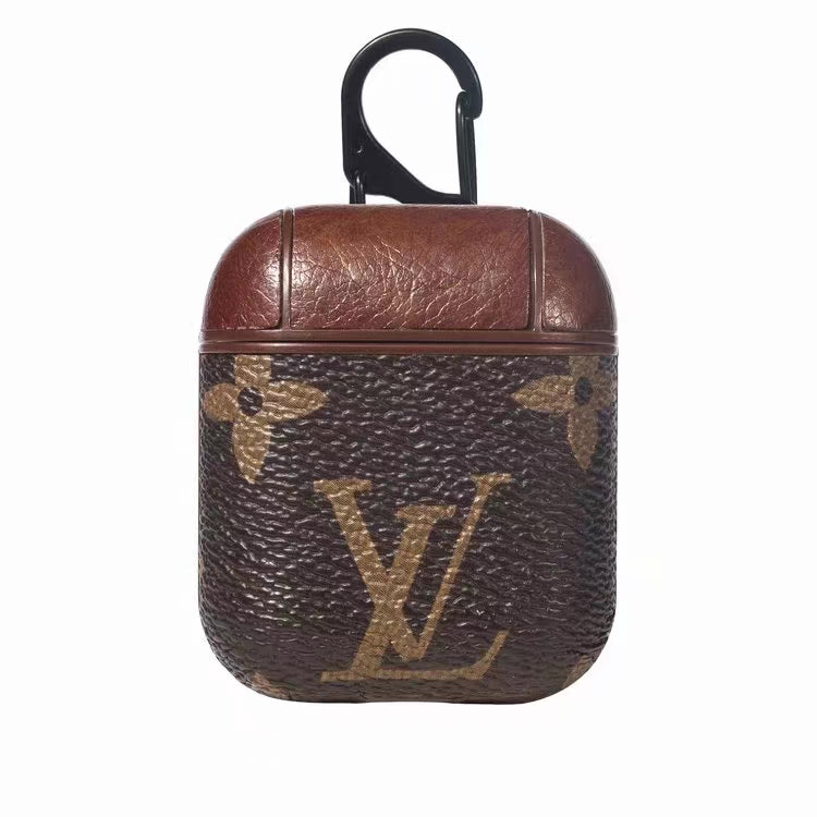 INSPIRED DESIGNER MONOGRAM V2 AIRPODS CASE -BROWN