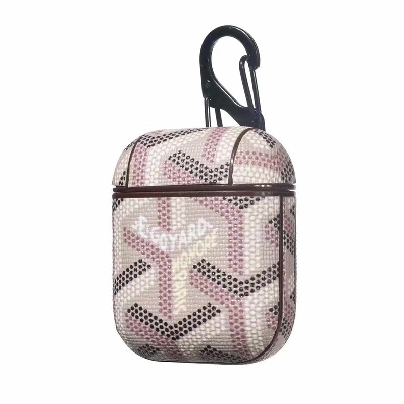 GOYARD MONOGRAM AIRPODS CASE - LIGHT PINK