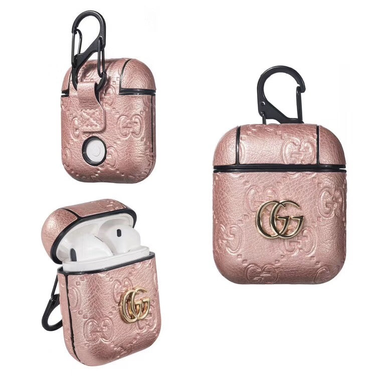 GUCCI PENDANT EMBOSS AIRPODS CASE - PINK – ELEVATEDCASES