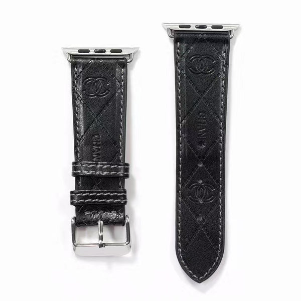 DESIGNER COCO APPLE WATCH BAND - BLACK