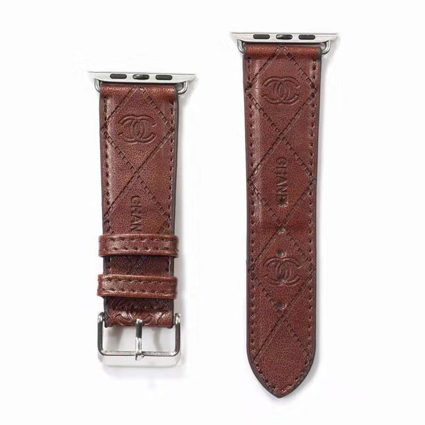 DESIGNER COCO APPLE WATCH BAND - BROWN