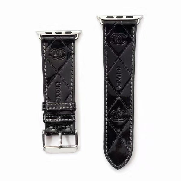 DESIGNER COCO APPLE WATCH BAND - GLOSS BLACK