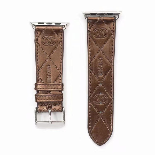 DESIGNER COCO APPLE WATCH BAND - GLOSS BROWN