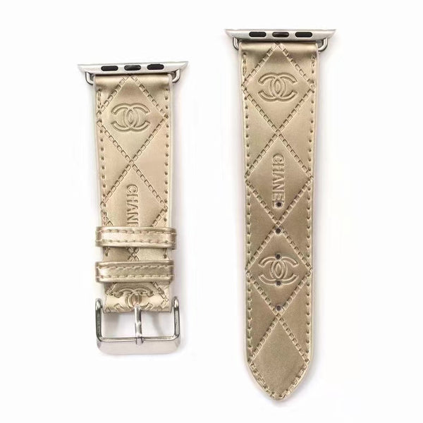 DESIGNER COCO APPLE WATCH BAND - GLOSS GOLD