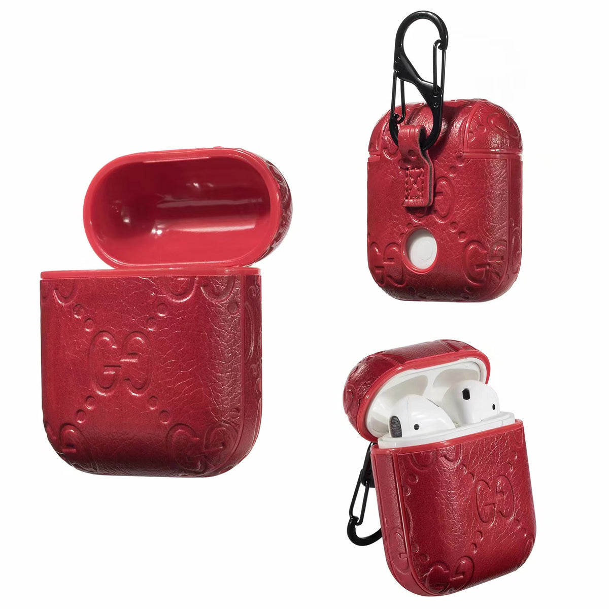 GG EMBOSS AIRPODS CASE - RED – ELEVATEDCASES