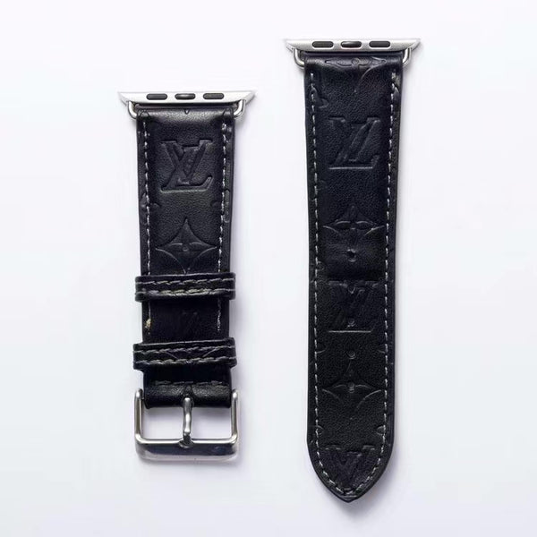 LV EMBOSS APPLE WATCH BAND - BLACK