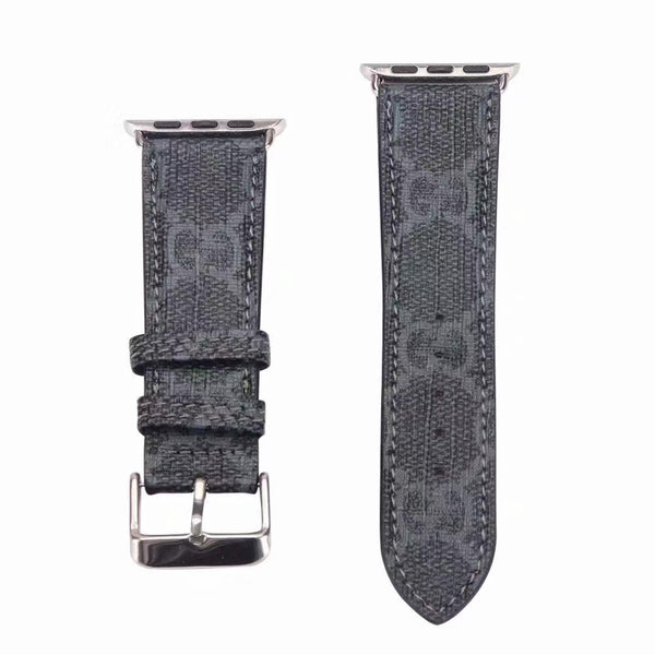GG MONOGRAM APPLE WATCH BAND - BLACK