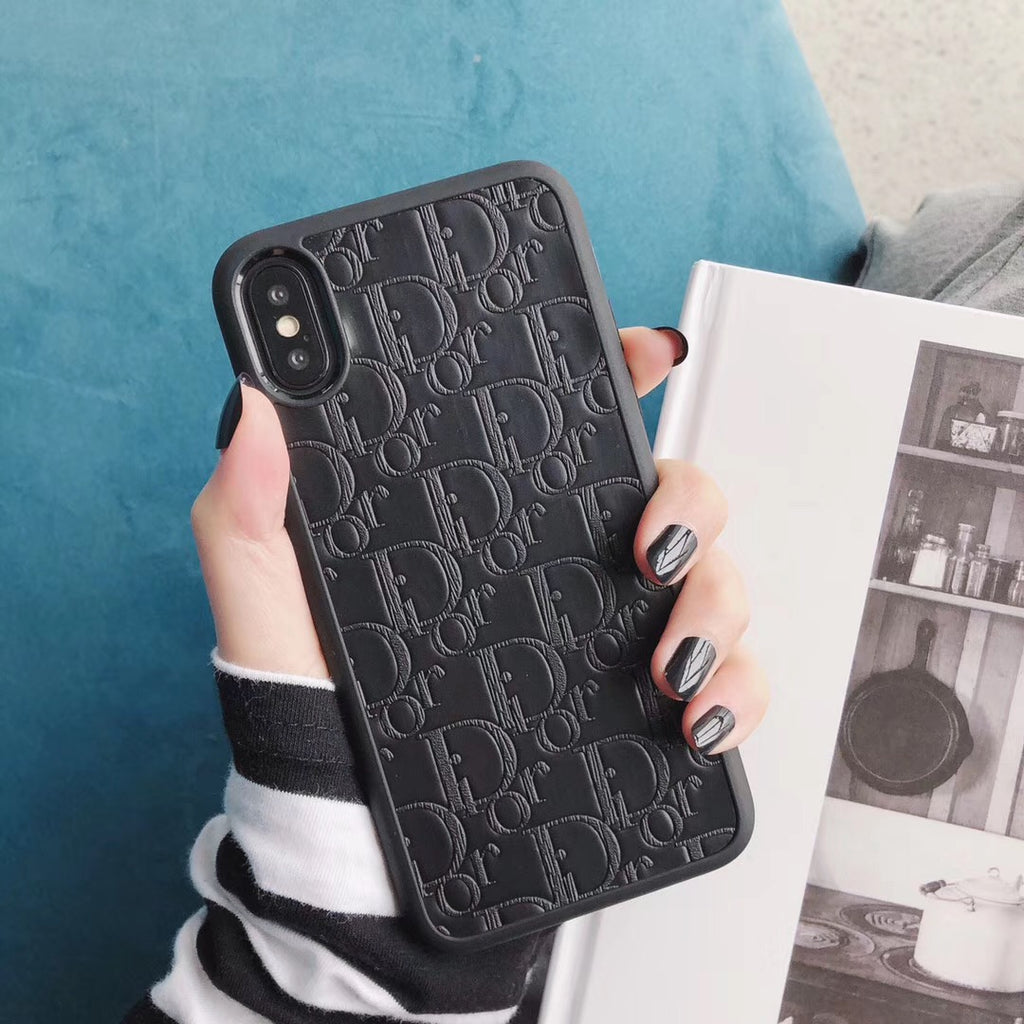 DIOR MONOGRAM BUMPER EDGE CASE - BLACK & GRAY