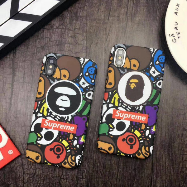 Supreme x Apr x Bape Glow In the Dark Case