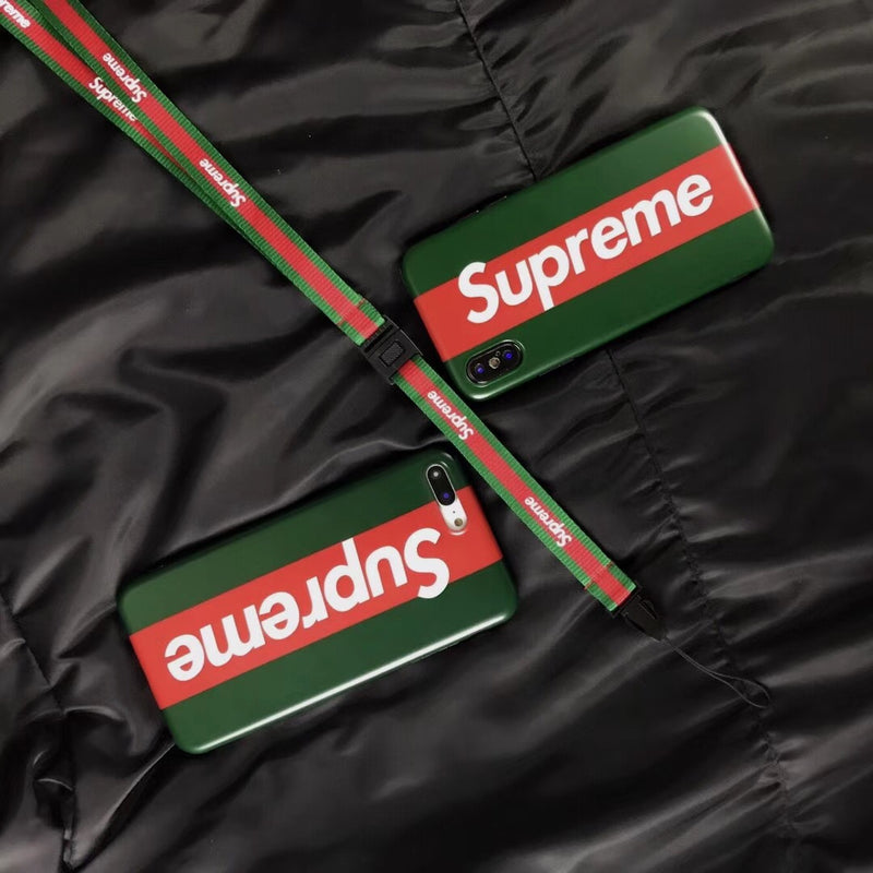 Big Supreme x GG Stripe - Green Case