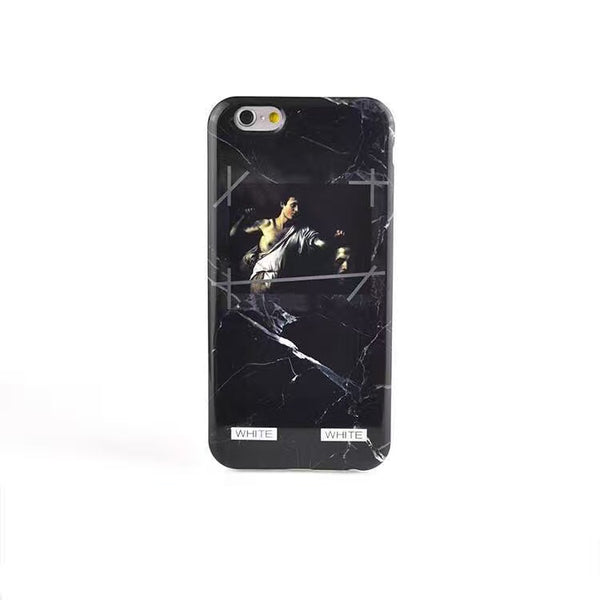Romans Off-White Marble Case - Black