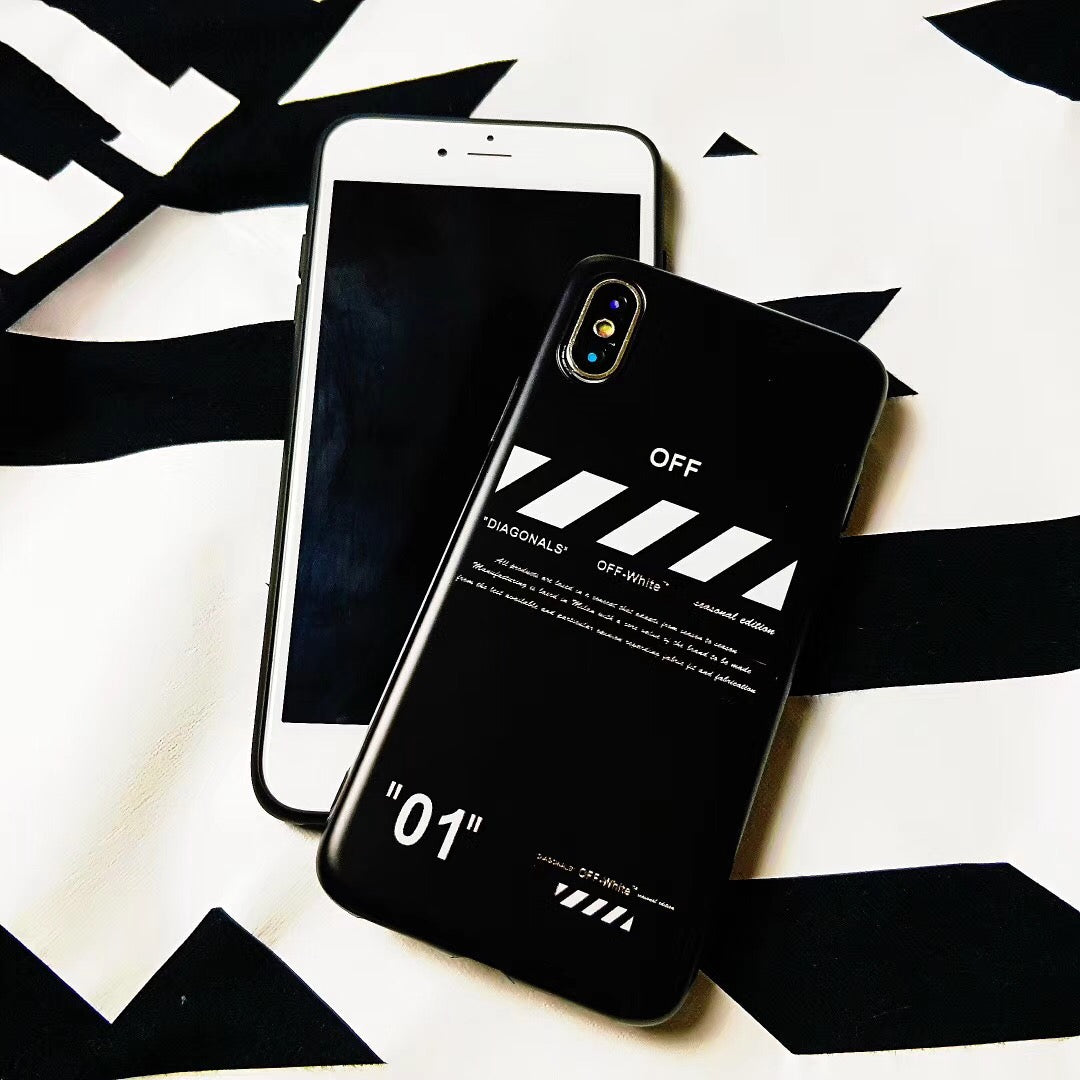 OFF DIAGONALS WHITE CASE - 01