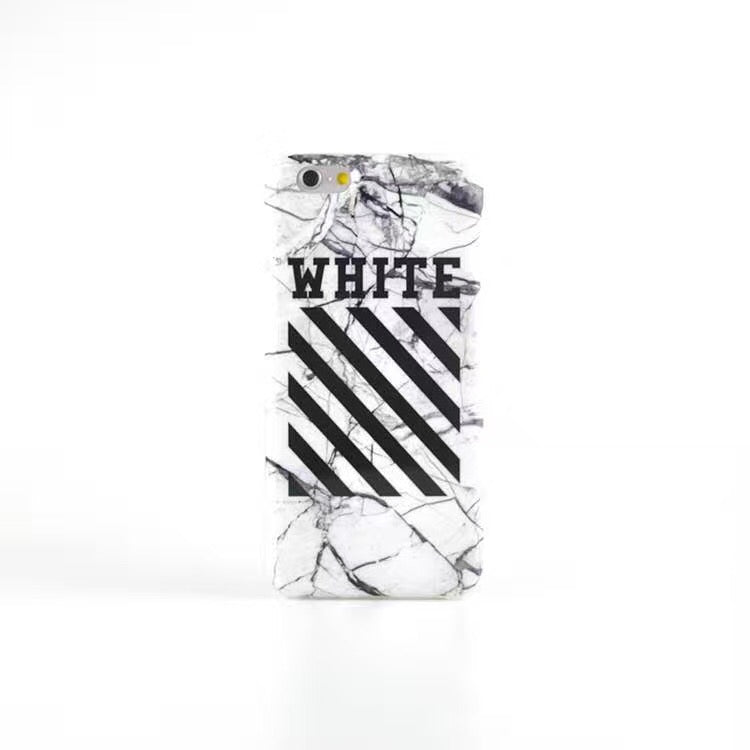 Off-White Marble Case - White