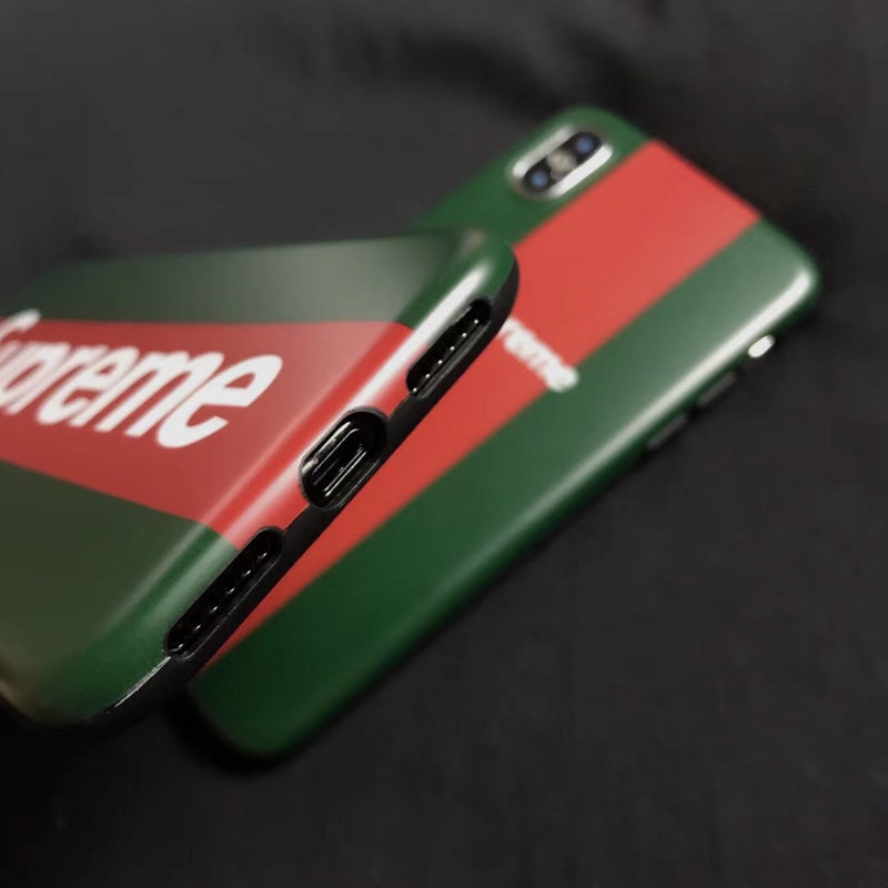 Big Supreme x GG Stripe - Black Case w/ Lanyard