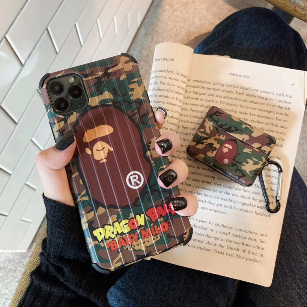 Bape Camo iPhone Case & Airpod Pro Case Bundle