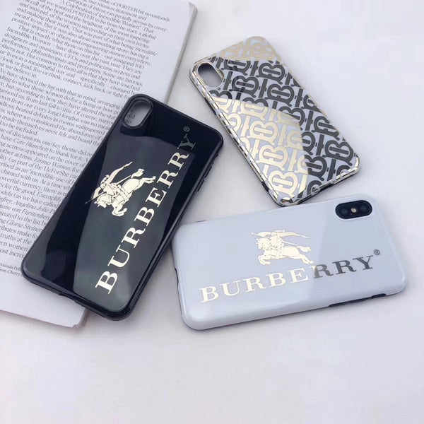 Burberry Gold Mirror Case (Black or White)