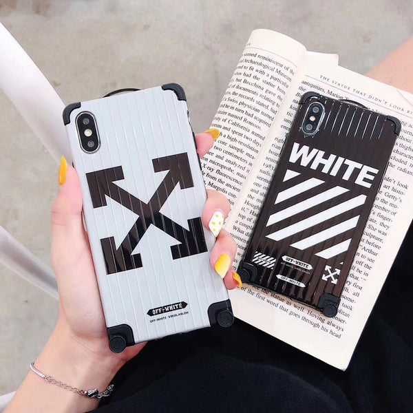 Off White Suitcase Style Protective iPhone Case (Black Or White)
