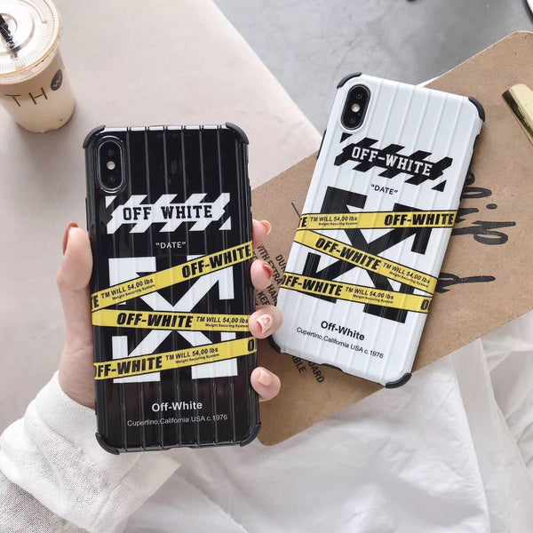 Off White Suitcase Style Protective Phone Case (Black or White)