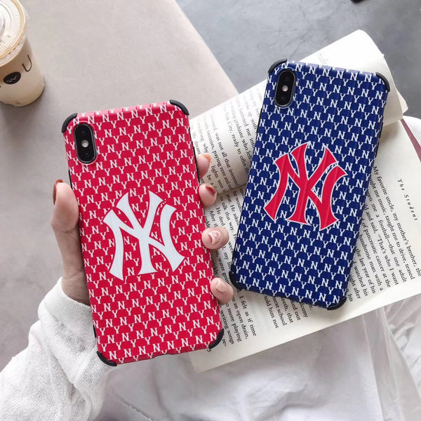 New York Yankes Monogram Protective Iphone Case (Blue or Red)